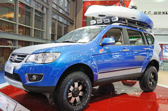blue Landwind x8 SUV Stock Photo