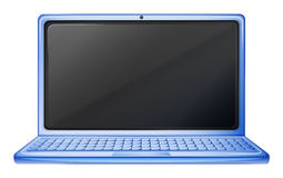 A blue laptop Royalty Free Stock Images