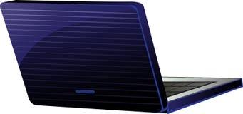 Blue laptop isolated on white Stock Photo