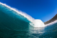 Blue Hollow Wave Water Stock Image
