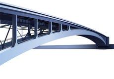 Blue large metal bridge  Royalty Free Stock Photo