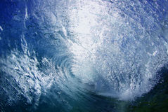 Blue Large Powerful Ocean Wave Royalty Free Stock Image
