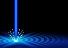 Blue laser background Stock Images