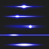 Blue laser beams pack Royalty Free Stock Photo