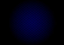 Blue laser grid diagonal in circle Stock Photos