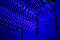 Blue laser light Royalty Free Stock Photography
