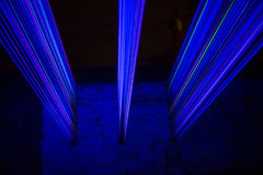 Blue laser light Royalty Free Stock Images