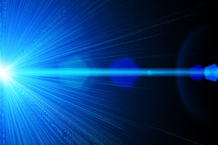 Blue laser light. Illustration of a bright blue laser light vector illustration