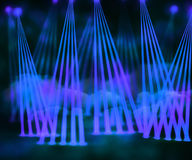 Blue Laser Stage Background Royalty Free Stock Image