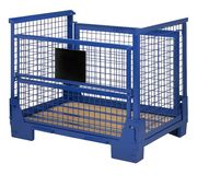 Blue lattice box Stock Image