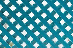Blue Lattice Trellis (2). Blue Lattice Criss Cross Trellis Royalty Free Stock Photo