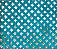 Blue Lattice Trellis (1). Blue Lattice Criss Cross Trellis Stock Image