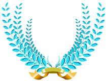 Blue laurel wreath Royalty Free Stock Photo