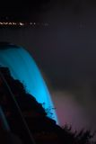 Blue lava. Blue lighting at Niagara stock photo
