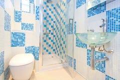 Blue lavatory 2 Stock Image