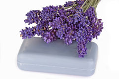 Blue Lavender Soap Royalty Free Stock Photography