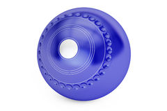 Blue Lawn Bowl closeup, 3D rendering. On white background Royalty Free Stock Photos