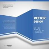 Blue Layout Stock Image