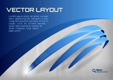 Blue Layout Stock Photo