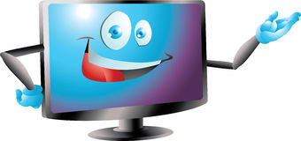 Blue lcd led tv monitor presenting Stock Photos