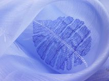 A blue leaf background cloth Royalty Free Stock Images