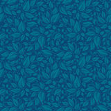 Blue leaf Elegant stylish abstract floral wallpaper. Seamless pattern Royalty Free Stock Photos