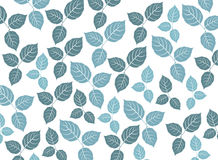 Blue leaf pattern on a white background Royalty Free Stock Photography
