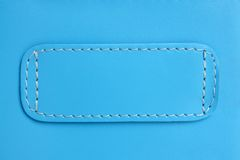 Blue leather. Natural blue leather background closeup Royalty Free Stock Image