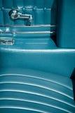 Interior of classic car Stock Images