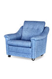 Blue leather armchair Stock Photos