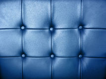 Blue leather background Stock Photography
