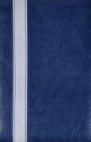 Blue leather background Stock Photos