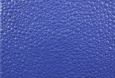 Blue Leather Background. A background of a blue leather with abstract design on it Royalty Free Stock Photography