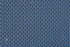 Blue leather. Background pattern. Grained, punctured texture closeup royalty free stock image