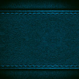 Blue leather background Stock Image