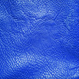 Blue leather background Stock Photos
