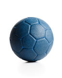 Blue leather ball Royalty Free Stock Image