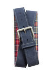 Blue Leather Belt Stock Photo
