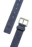 Blue Leather Belt Stock Photo