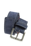 Blue Leather Belt Royalty Free Stock Photos