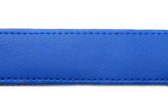Blue leather belt on white background Royalty Free Stock Photos