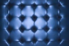 Blue leather cushion. Close up of blue leather cushion royalty free stock image