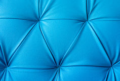 Blue leather furniture Royalty Free Stock Images