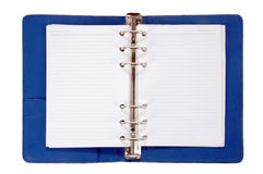 Blue leather notebook Royalty Free Stock Photo