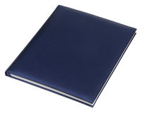 Blue leather notebook Royalty Free Stock Image
