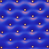Blue leather pattern with knobs Royalty Free Stock Image