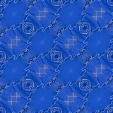 Blue Leather Seamless Pattern stock photos