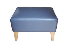 Blue leather stool Stock Photos