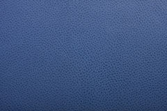 Blue leather surface Stock Image