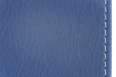 Blue leather texture. Close up of blue leather cover book Royalty Free Stock Images